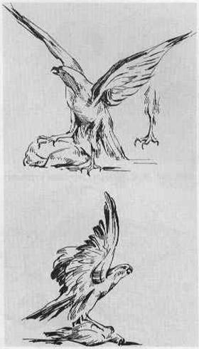 Ворона на сыре рисунок как нарисовать